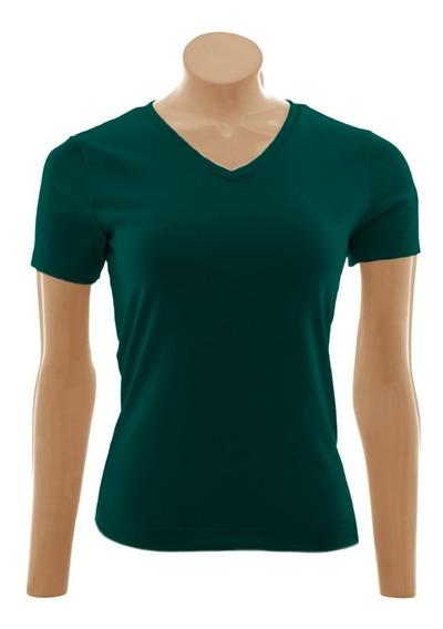 Camiseta Baby Look Gola V, Exg, Algodão - 3 Unid