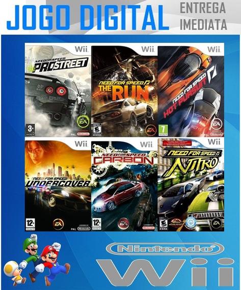 Wii - 6 Super Jogos Need For Speed - Digital - Receba Agora