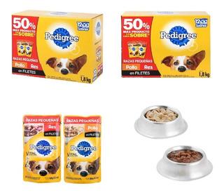 Alimento Para Perro Razas Pequeñas 48 Sobres De 150 Gramos