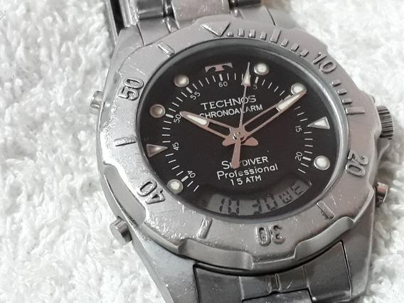 Relógio Masculino Technos Skydiver, Médio !