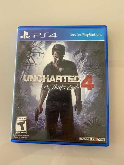 Uncharted 4 A Thiefs End Ps4 Mídia Física