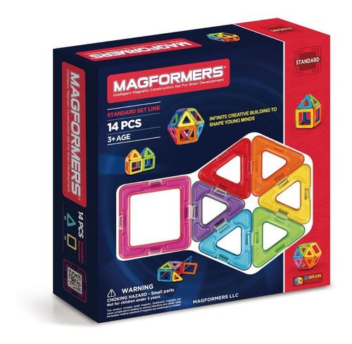 Magformers Rainbow 14 Piezas. Piezas Geométricas Imantadas