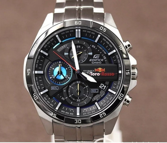 Relógio Casio Edifice Escuderia Efr-556 Toro Rosso 50mm