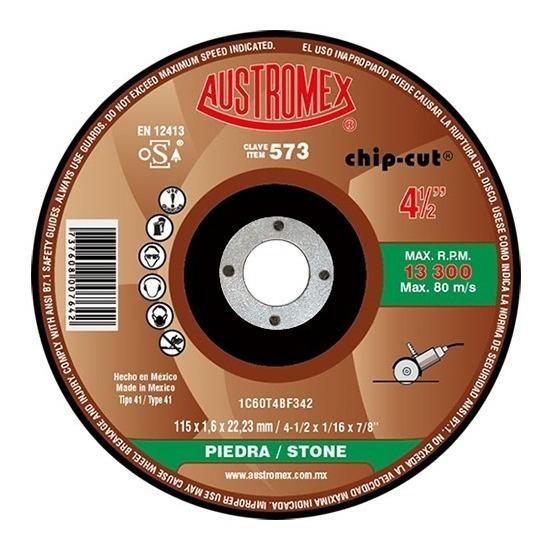 Disco Corte Piedra Esmeriladora 4 Pul 573 Austromex