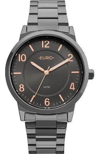 Relógio Masculino Preto Euro Eu2036ylz/4p Melhor Oferta