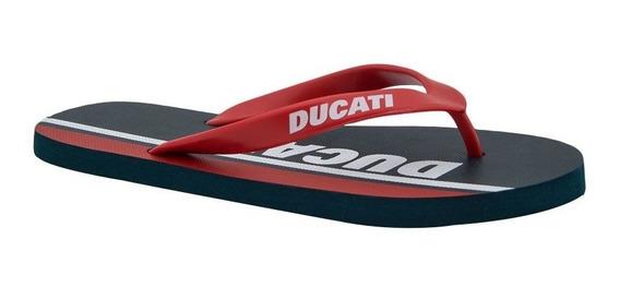 Sandalia Pata De Gallo Para Hombre Ducati Color Rojo