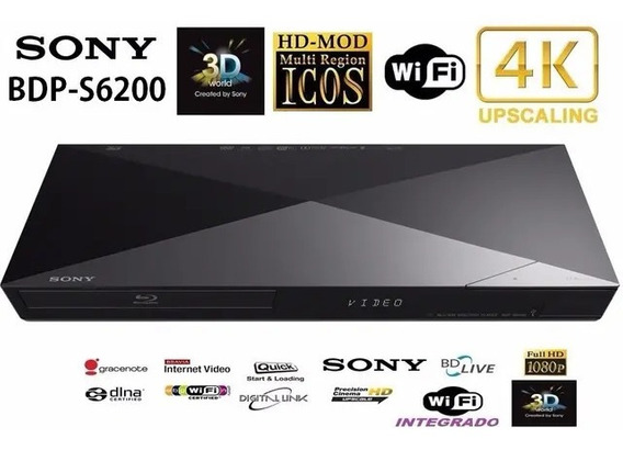 Reproductor Bluray Sony Bdp-s6200