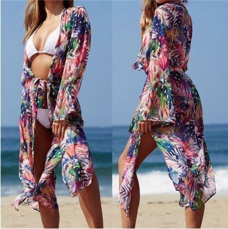 Salida Baño Cárdigan Kimono Ropa Playa Piscina Pareo Bikini