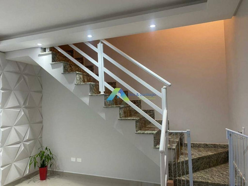 Venha Morar Na Cidade De Santo Andre Sobrado Novo, 3 Dormitorios, 3 Vagas, Quintal, Churrasqueira Excelente Valor! - So0906