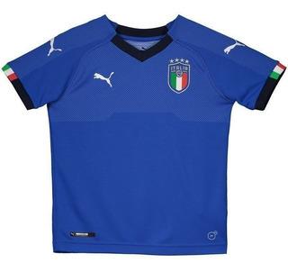Camisa Puma Itália Home 2018 Juvenil