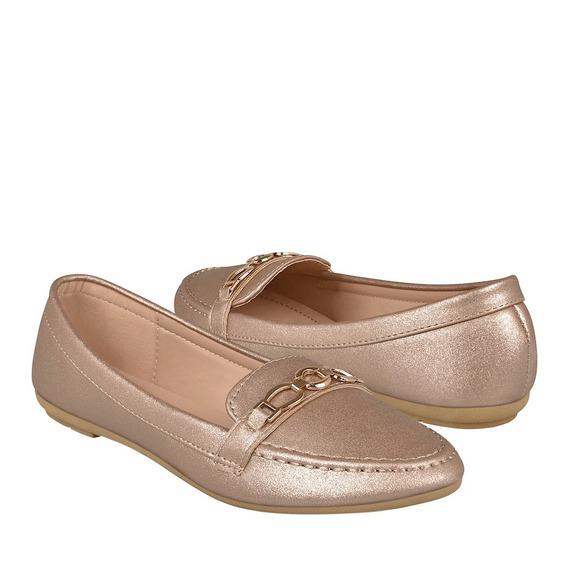 Zapatos Casuales Para Dama Furor 15770 Oro Rosado