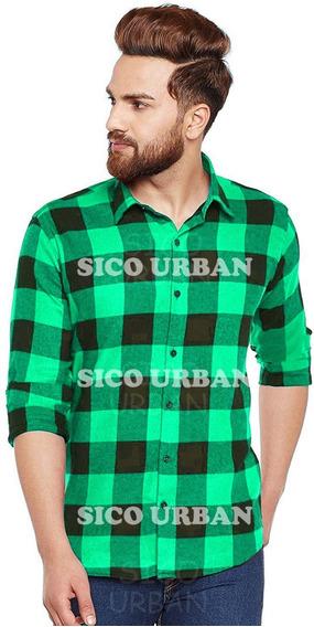 Camisas Entalladas Escocesa Hombre Originales Calidad