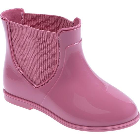 Bota Galocha Infantil Menina Pimpolho Colore Rosa 20 Ao 27