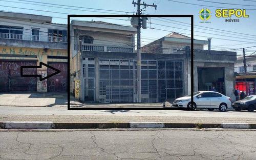 Galpão, 600 M² - Venda Por R$ 3.500.000,00 Ou Aluguel Por R$ 12.000,00/mês - Cidade Centenário - São Paulo/sp - Ga0038