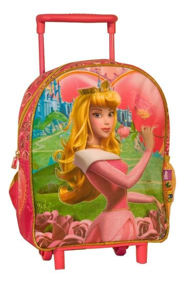 Mochila Carro Jardin 12p Disney Princesa Aurora Mundo Manias