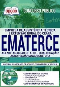 Apostila Ematerce 2018 - Agente Aux - Agropecuária/agricultu