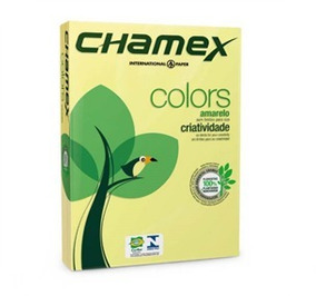 Papel Chamex Colors A4 Amarelo.210x297mm 500fls