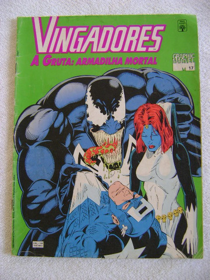 Graphic Marvel Nº17 Vingadores Nov 1993 Ed Abril Excelente!