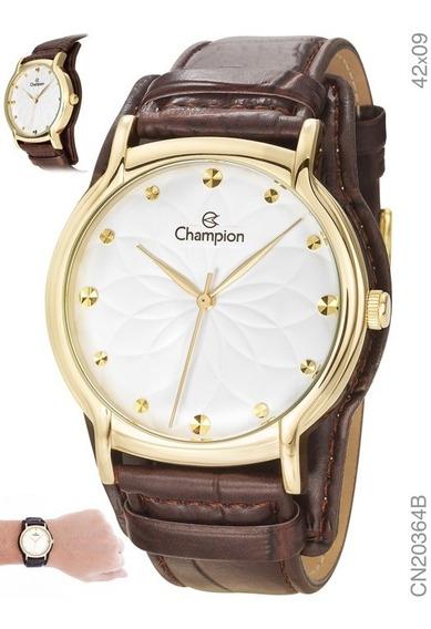 Relógio Champion Kit Feminino Brinde Semijóia Cn20364w