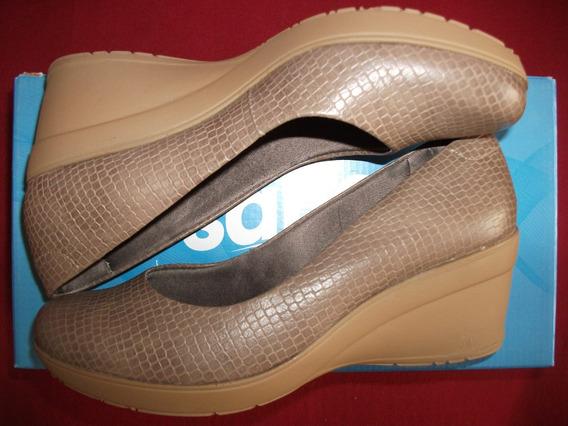 Calçado Sapato Feminino Usaflex Care Bege Sem Uso