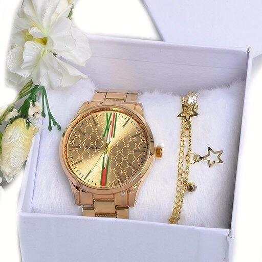 Kit C/ 5 Relógios Femininos + Caixa+ Pulseiras Atacado Para Revenda Top An-01