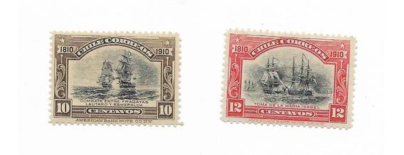 Estampillas Chile 1910 Mint Aniversario De La Independencia