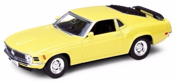 Ford Mustang Boss 302 1970 Escala 1:36 Welly Amarillo