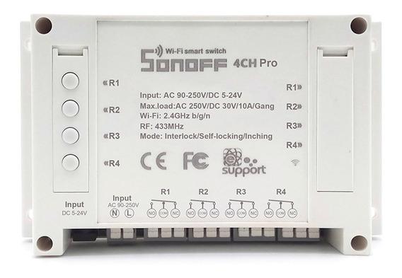 Sonoff 4ch Pro 10a 4 Canal Interruptor De Luz Remoto - Bran