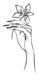 Adesivo De Parede Salão Unhas Flor Cabeleireiro Manicure