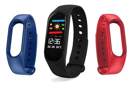 Redlemon Fitband Sport Bluetooth Ritmo Cardiaco 3 Correas