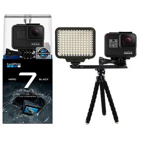 Gopro Hero 7 Black Câmera 4k + Iluminador Led E Mini Tripé
