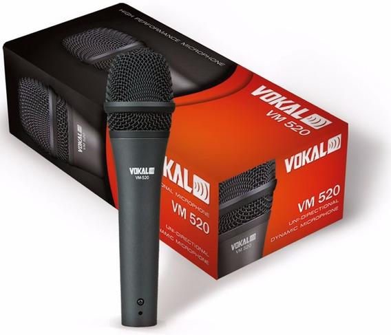 Microfone Profissional Vokal Vm520 Com Cabo E Bolsa
