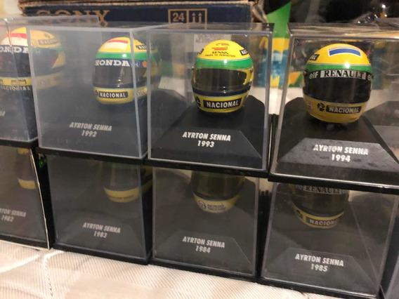 Coleção 13 Capacetes Escala 1/8 Ayrton Senna Minichamps