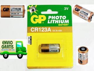 12 Pilas Cr123a Gp 123 Litio 3v Foto Laser Gotcha Sensores