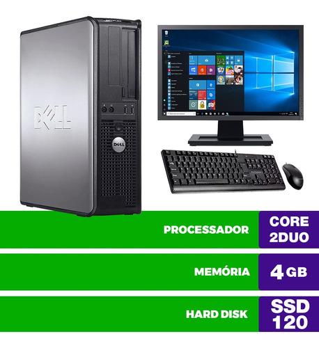 Imagem 1 de 5 de Cpu Usado Dell Optiplex Int C2duo 4gb Ssd120 Mon16w Brinde