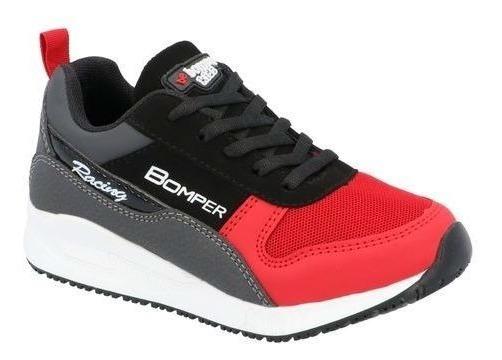 Tenis Casual Niño Negro/rojo M615190