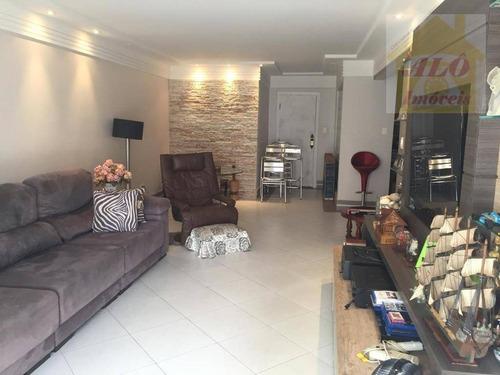 Apartamento À Venda, 160 M² Por R$ 630.000,00 - Canto Do Forte - Praia Grande/sp - Ap3798