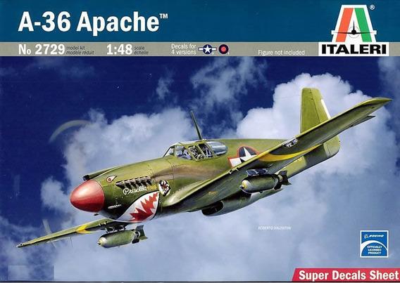 Miniatura Avião A-36 Apache ( P-51mustang ) 1/48 Kit Italeri