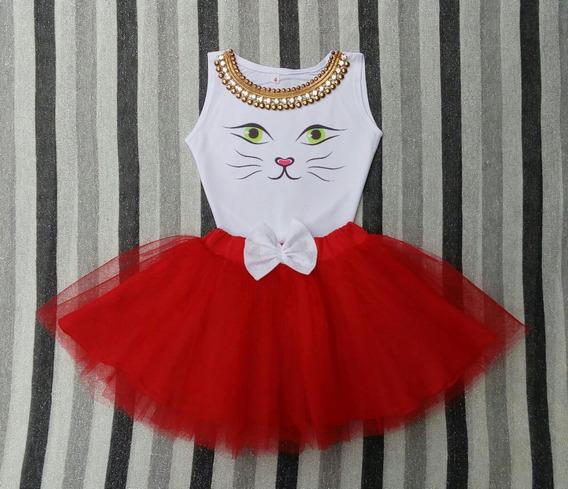 Conjunto De Gatito Para Niña