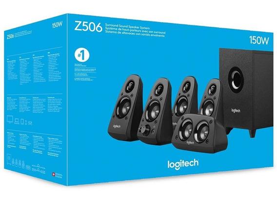 Caixa De Som Z506 Logitech 5.1 Com Subwoofer - 150w - Bivolt