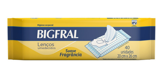 Toalha Umedecida Bigfral - 40 Unidades