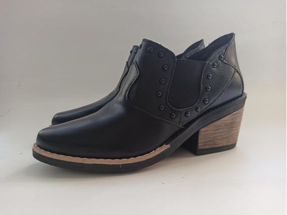 Zapatos Mujer Charros Taco Botas Texana Tachas Invierno 2020