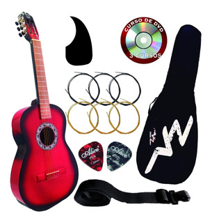 Guitarra Acústica Con Funda Y Porta Plumilla Paquete Vz