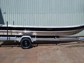Barco Em Alumínio Com Carreta Volpato 6 Metros