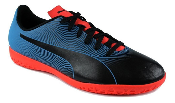Chuteira Indoor Puma Ad Spirit Ii It - Preto/azul