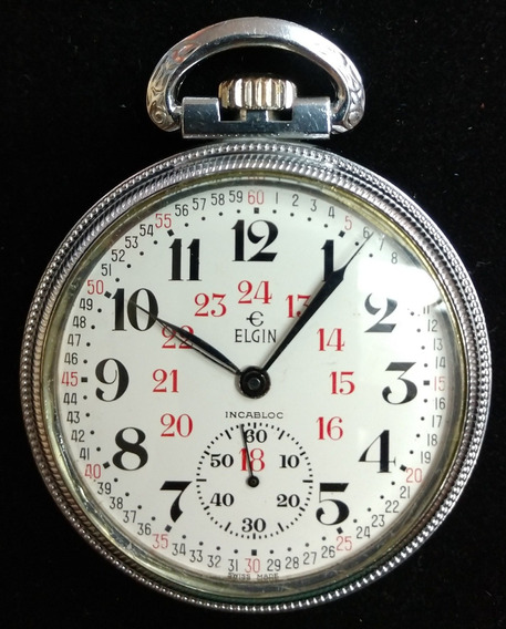 Reloj De Bolsillo Elgin Ferrocarril Reglamentario Excelente