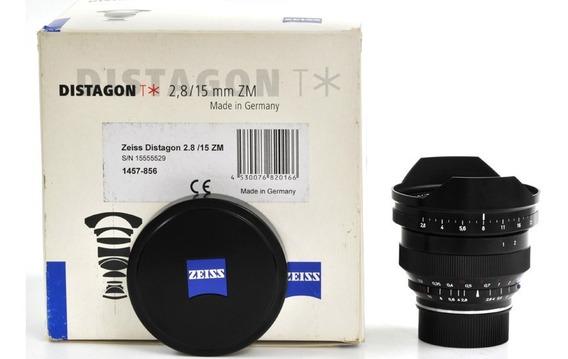 Objetiva Para Leica M 15mm 2.8 Distagon T* Zeiss Na Caixa !!
