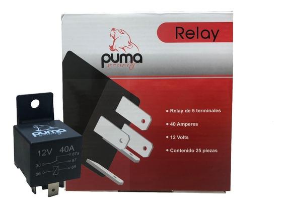 Kit 25 Relevadores Relay Puma 5 Patas 40a 12v Calidad!