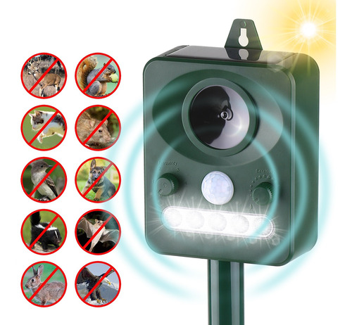 Repelente De Plagas Solar Ultrasónico