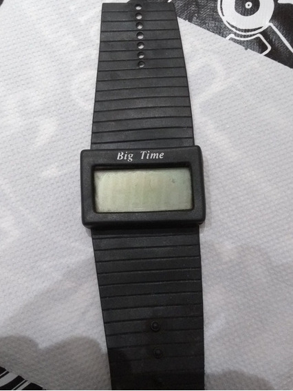 Relógio Anos 80 Big Time - Super Raro Com Visor Digital.